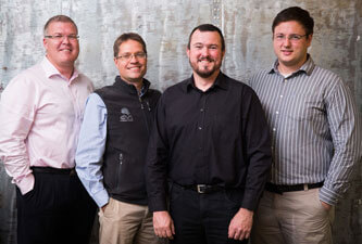 From left to right: Gerdus Byleveld, Johan Pieters, Craig Neill and Conrad Hofmeyr