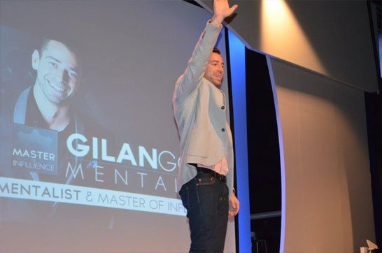 Gilan Gork (the mentalist) speaks at our Gauteng staff gathering