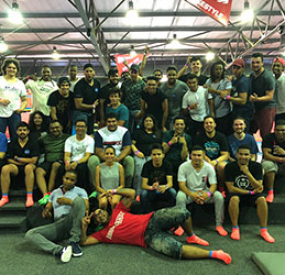 Global Testing Centre (GTC) teambuilding event at Rush Trampoline Park in Claremont, Cape Town